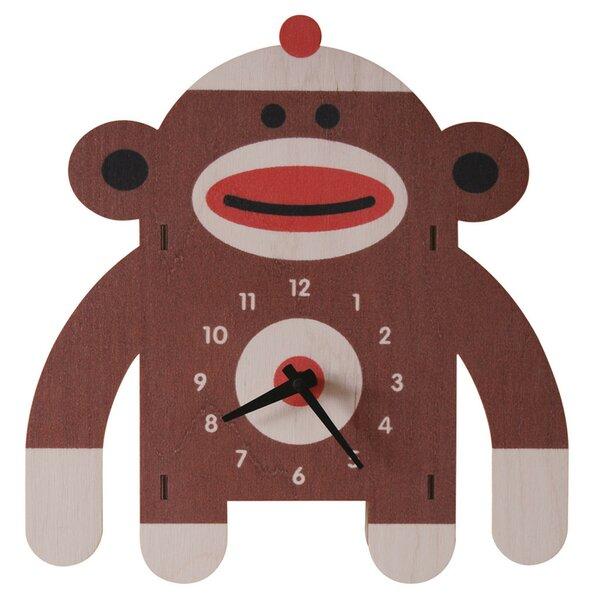 Sockmonkey Wall Clock by Modern Moose
