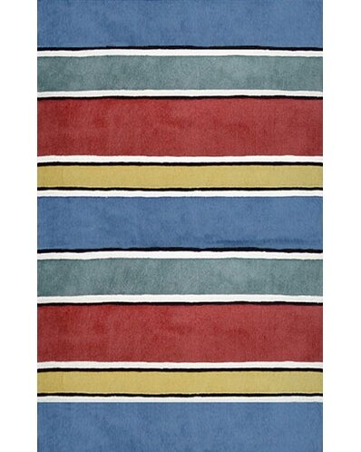 Beach Rug Gem Multi Ocean Stripes Rug by American Home Rug Co.