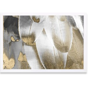 'Royal Feathers' Graphic Art Print by Willa Arlo Interiors