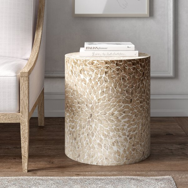 Craig Drum End Table By Kelly Clarkson Home