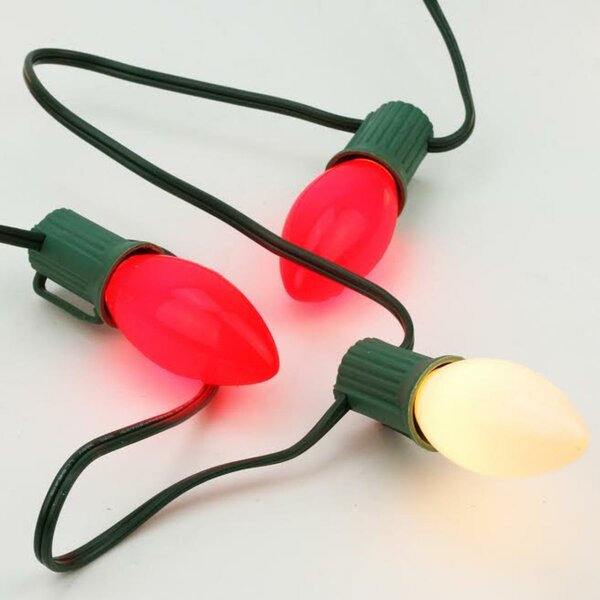 25 Light Opaque C7 Patio Valentines Day Christmas Light by Northlight Seasonal