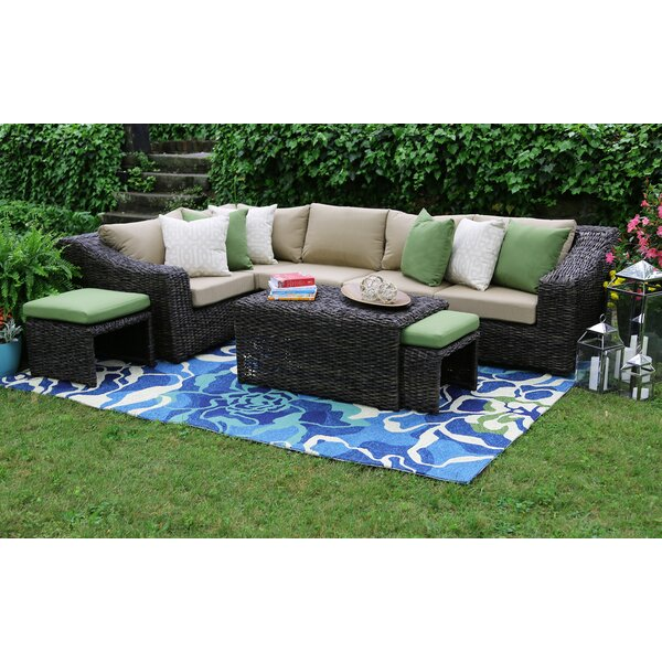 Williams 27 Piece Sunbrella Sectional Seating Group with Sunbrella Cushions by AE Outdoor