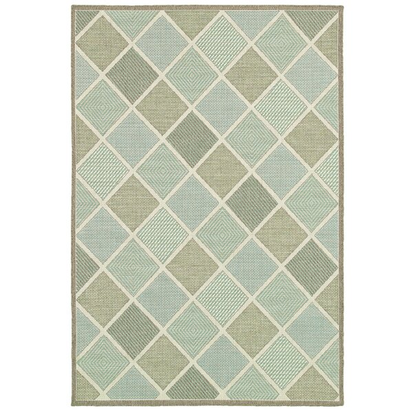 Seidenberg Green Indoor/Outdoor Area Rug by Beachcrest Home