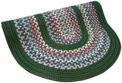 Pioneer Valley II Carribean Blue with Dark Green Solids Multi Round Rug by Thorndike Mills