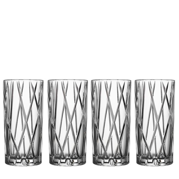 City 12 oz. Crystal Highball Glass (Set of 4) by Orrefors
