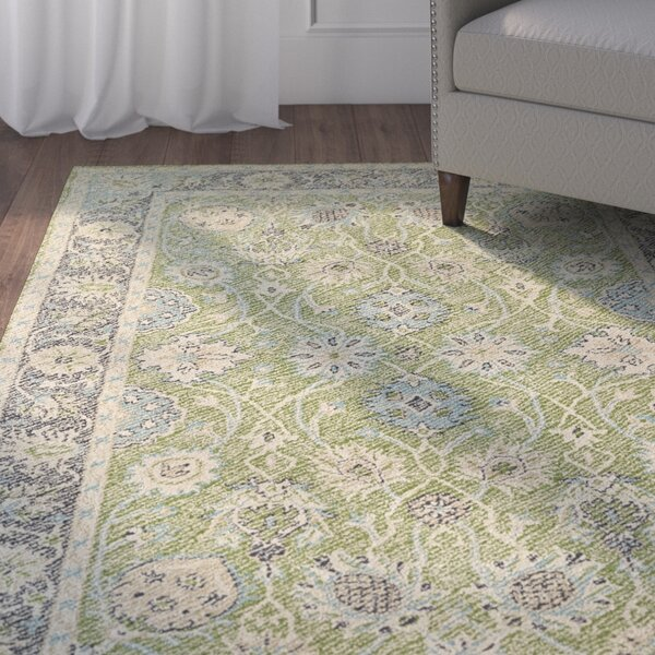 Dittmar Handmade Lime Green Indoor/Outdoor Area Rug by Charlton Home