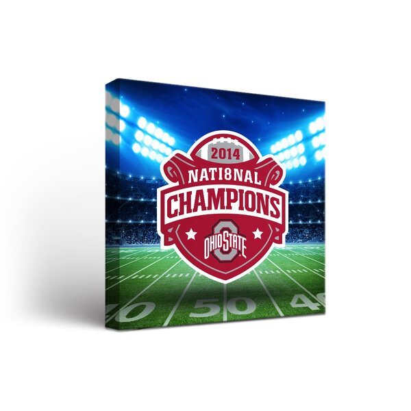 NCAA Ohio State University Buckeyes Stadium Framed Graphic Art on Wrapped Canvas by Victory Tailgate