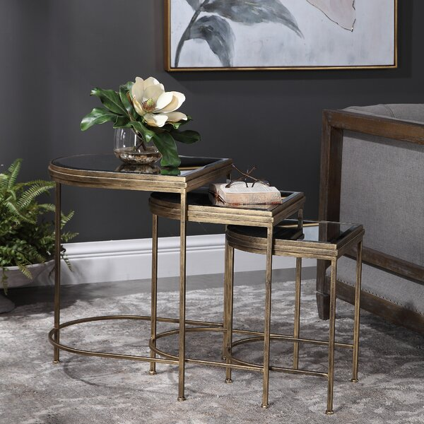 Aquilar 3 Piece Nesting Tables By Everly Quinn