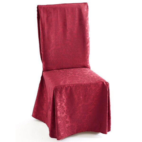 Decorative Box Cushion Dining Chair Slipcover by Astoria Grand