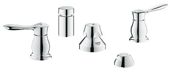 Parkfield Double Handle Vertical Spray Bidet Faucet by Grohe