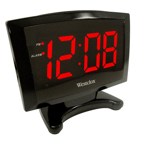 1.8 LED Alarm Clock by Westclox Clocks
