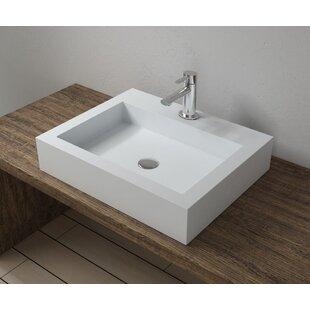 Stone Square Vessel Bathroom Sink InFurniture