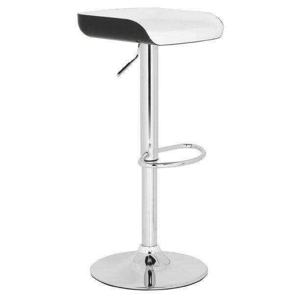 Rameka Adjustable Height Swivel Bar Stool by Safavieh