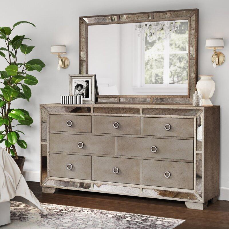 Marvelous Dowson 8 Drawer Dresser With Mirror