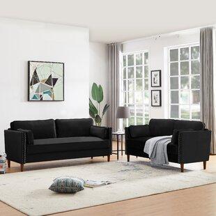 Miri 2 Piece Velvet Living Room Set by Everly Quinn