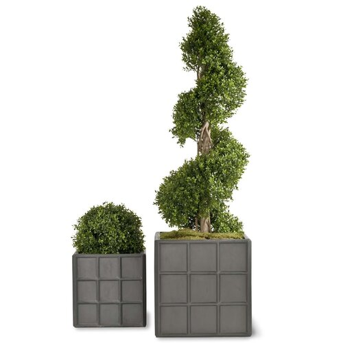 Fibreglass Planter Box Freeport Park Size: 40 cm H x 40 cm W