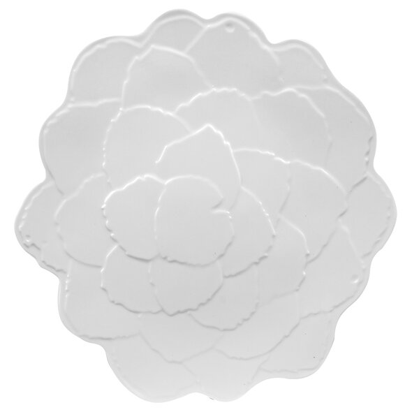 Botanical Galax Leaf Melamine Round Platter by Encore Concepts