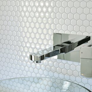 Hexago 9 63 X 11 27 L Stick Mosaic Tile In White