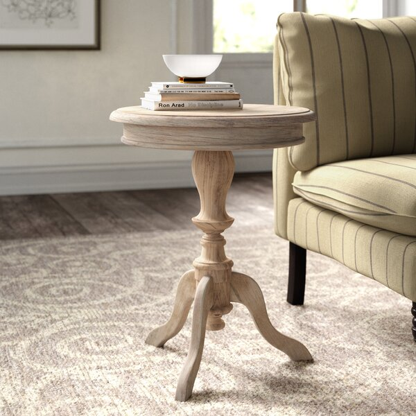 Corsair Solid Wood Pedestal End Table By Kelly Clarkson Home