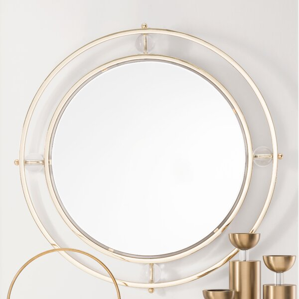Whorton Floating Round Lucite Accent Mirror by Brayden Studio