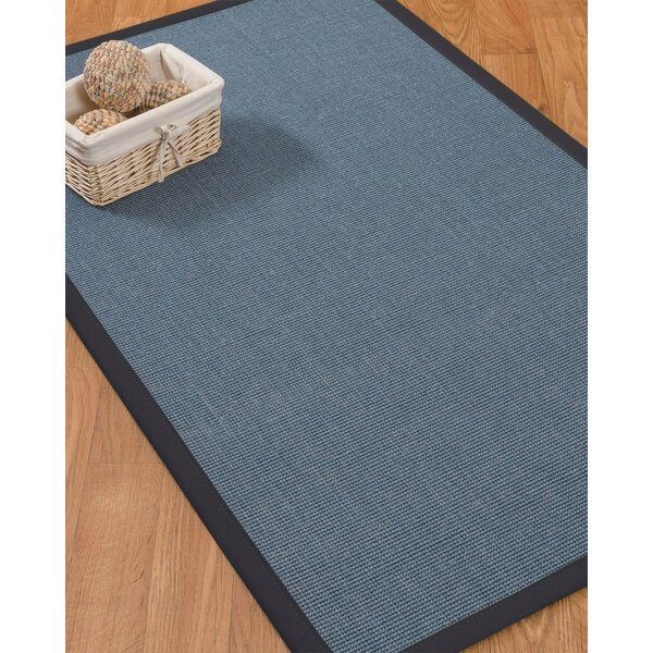 Sather Hand-Hooked Blue Area Rug