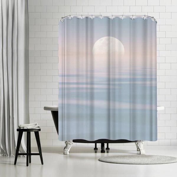 Lebens Art Calm Pastel Sea Shower Curtain by East Urban Home