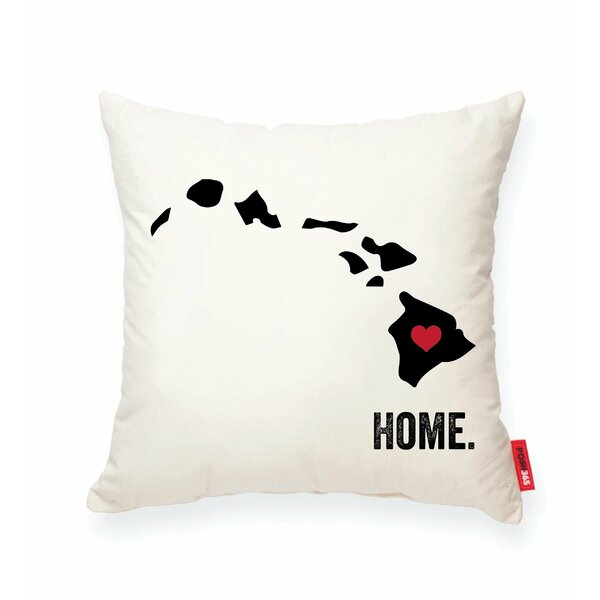 Pettry Hawaii Cotton Throw Pillow by Wrought Studio