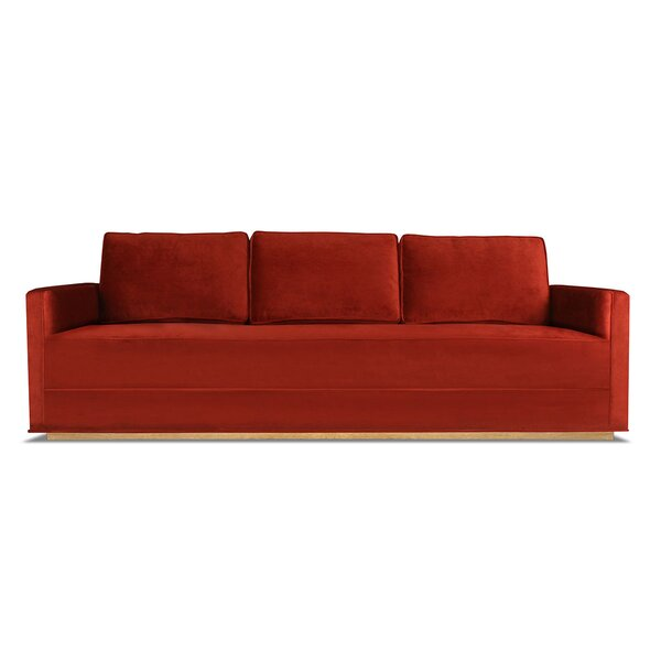 Jakarta Velvet 60-inch Square Arm Sofa by Wrought Studio Wrought Studio