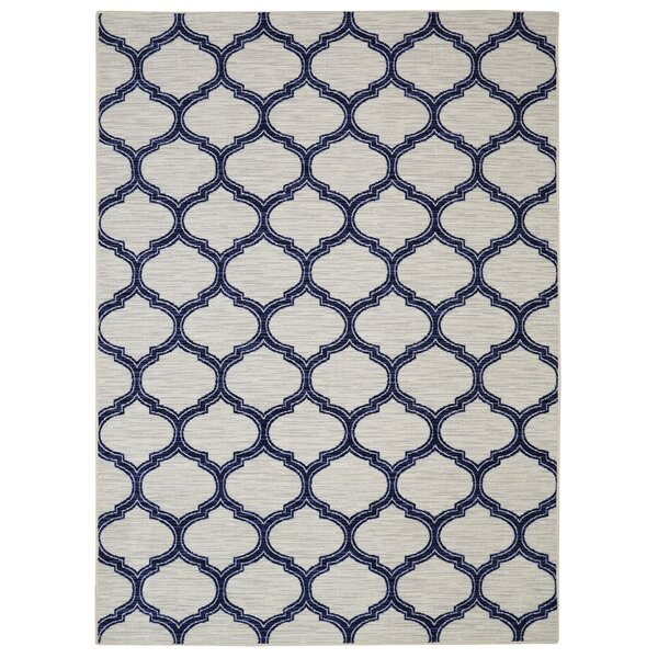 Newell Glenn Navy/Cream Area Rug by Andover Mills