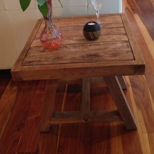 Recycled Teak End Table