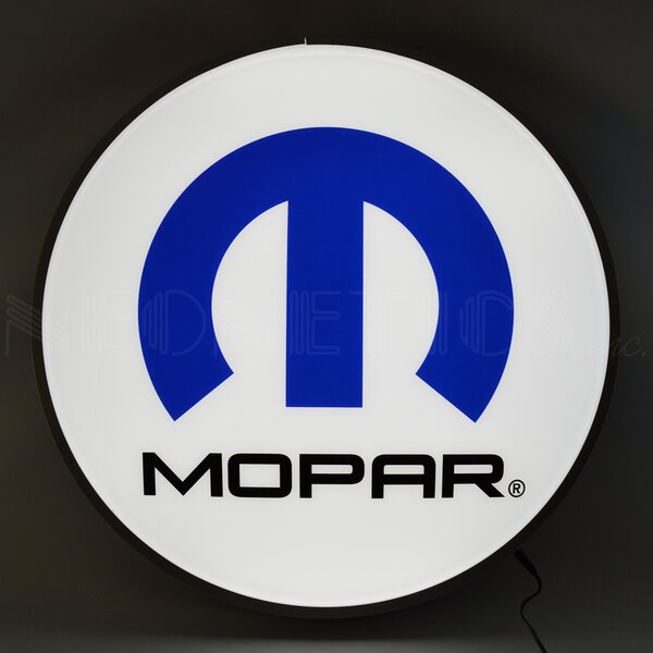 Mopar Omega M 15 Backlit LED Wall Light by Neonetics
