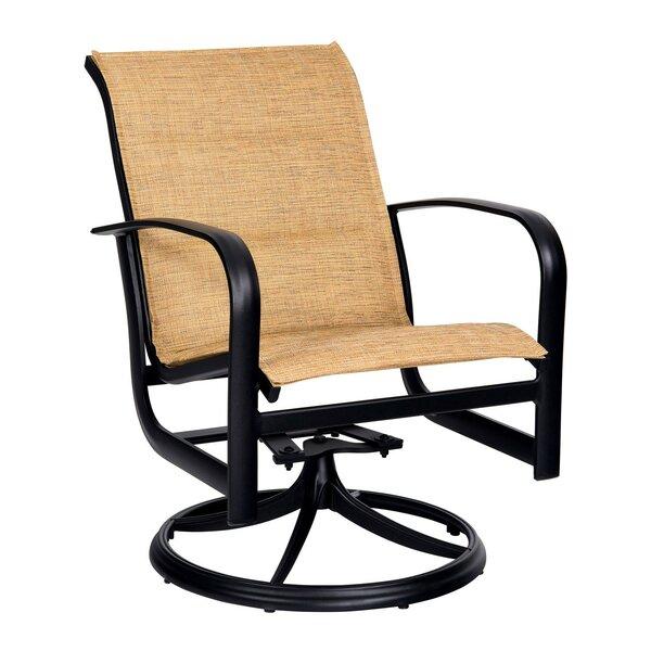 Fremont Padded Swivel Rocker Patio Dining Chair by Woodard