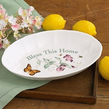 Butterfly Meadow Bless This Home Tray by Lenox