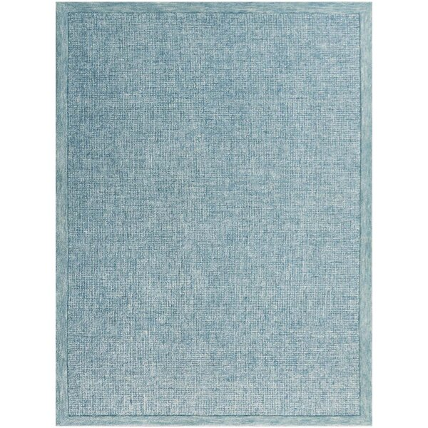 Caravelle Hand-Tufted Teal Area Rug by Gracie Oaks