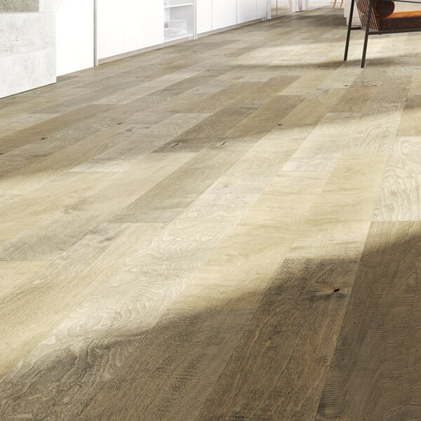 Balboa 5 Engineered Birch Hardwood Flooring in Taupe/Brown by GoHaus