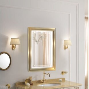 Reviews Leigh LED Lighted Bathroom/Vanity Mirror By Rosdorf Park