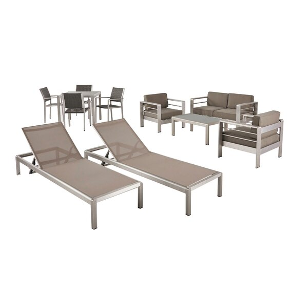 Smartt 11 Piece Complete Patio Set With Cushion By Orren Ellis