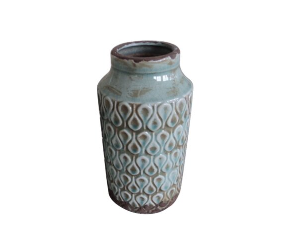 William Terracotta Table Vase by Bungalow Rose