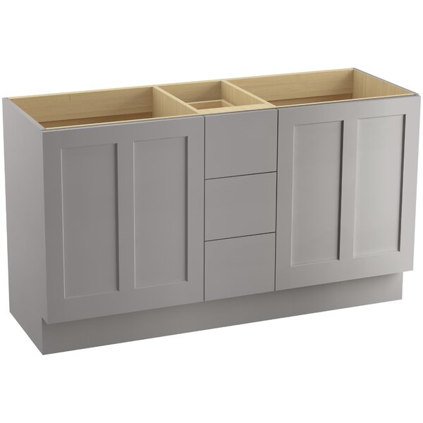 Poplin™ 60 Vanity with Toe Kick, 2 Doors and 3 Drawers by Kohler