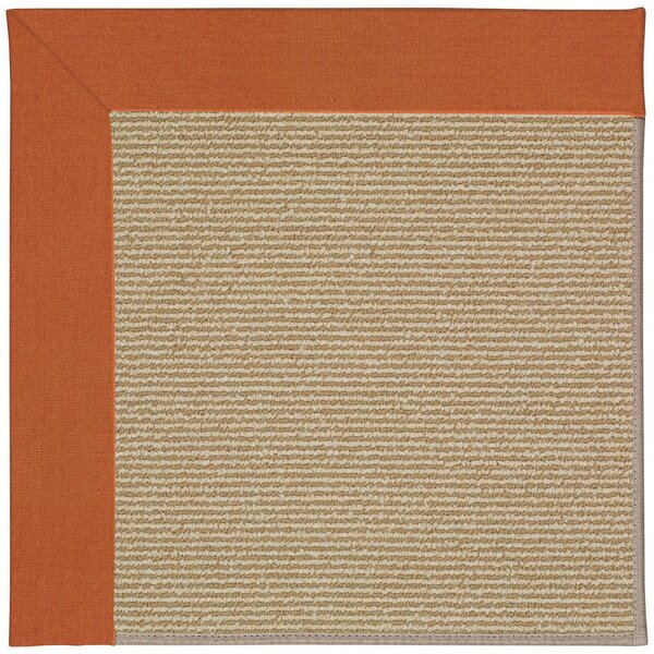 Lisle Machine Tufted Russet/Brown Indoor/Outdoor Area Rug by Longshore Tides