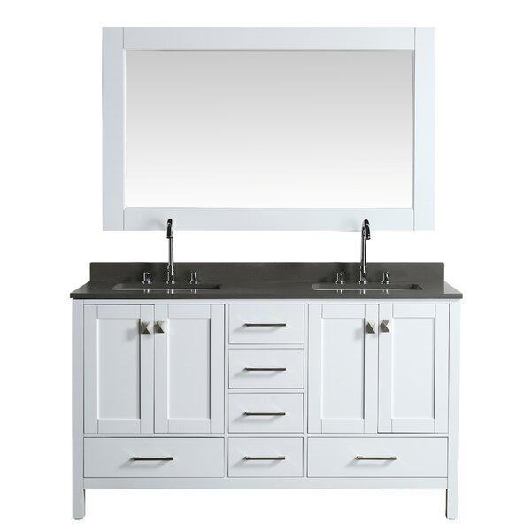London Hyde 60 Double Bathroom Vanity Set with Mirror by dCOR design