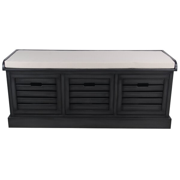 Fierros Wood Storage Bench by Breakwater Bay