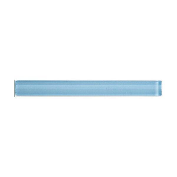 Lucente 1 x 8.5 Glass Liner Tile in Ocean Mist by Emser Tile