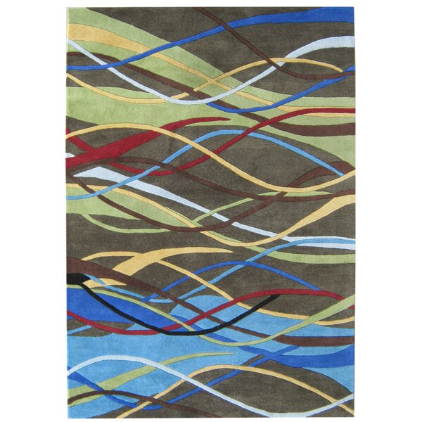 Alliyah Handmade Green/Blue/Brown Area Rug by Bridget Moynahan: Curator for a cause