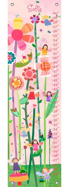 Woodland Fairies - Personalized Canvas Growth Chart by Oopsy Daisy