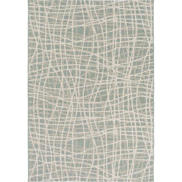 Moss/Ivory Indoor/Outdoor Area Rug by Mercury Row