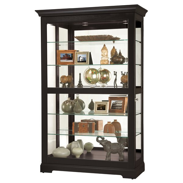 Bracy Lighted Curio Cabinet by Canora Grey Canora Grey