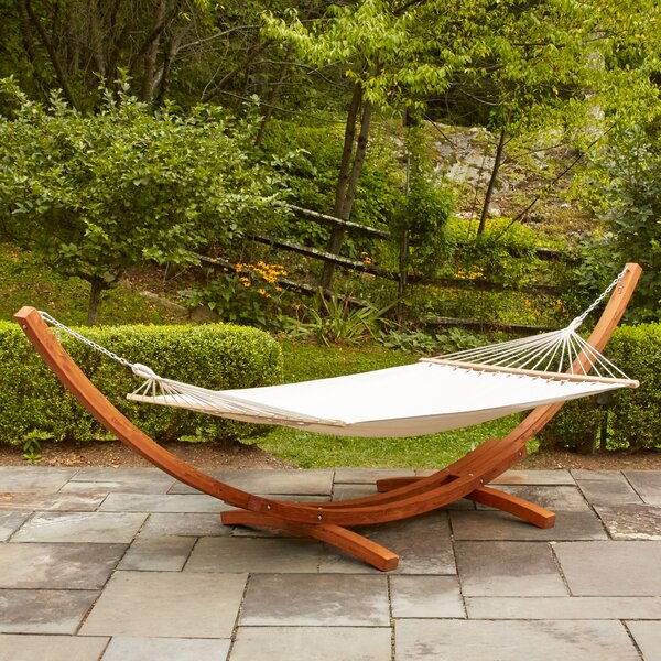 Kouklia Hanging Chaise Lounger with Stand by Bay Isle Home