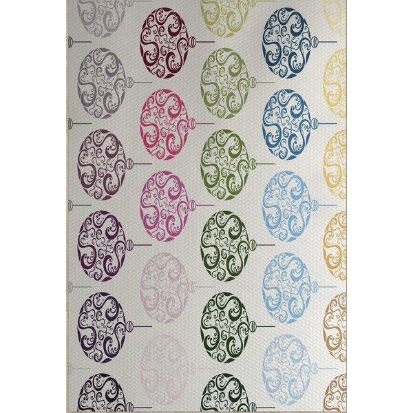 Beige Painterly Bulbs Geometric Print Indoor/Outdoor Area Rug by House of Hampton