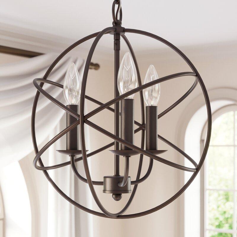 Nickerson 3 Light Globe Chandelier